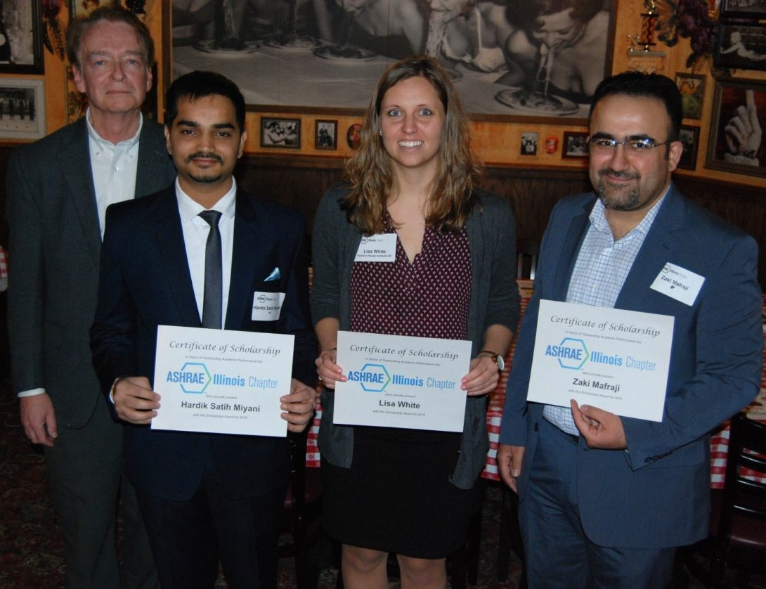 ASHRAE winners of 2018 standing together
