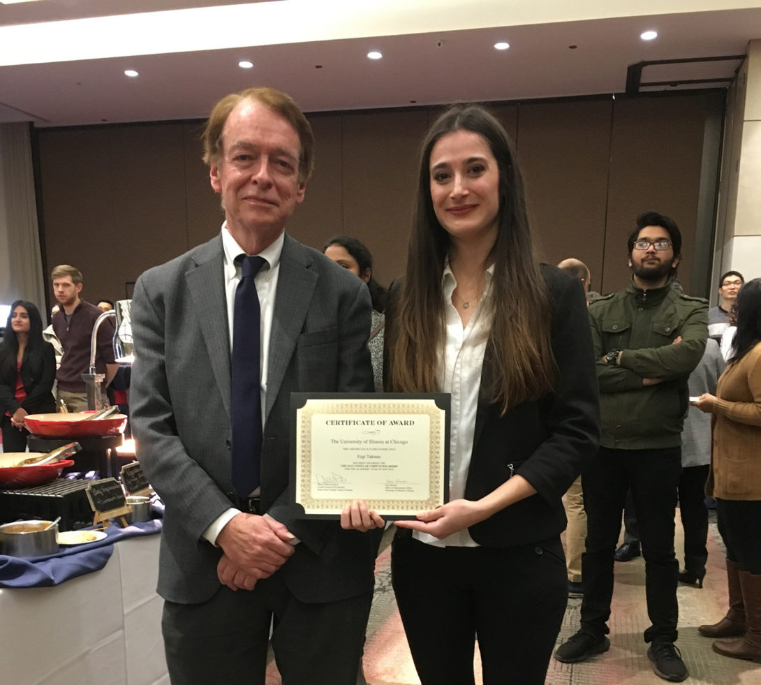 Winners of the Consular Corps Scholarship, Ezgi is reviving the award